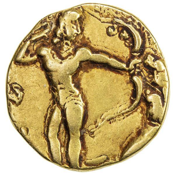 GUPTA: Chandragupta II, 383-412, AV dinar (7.65g). VF