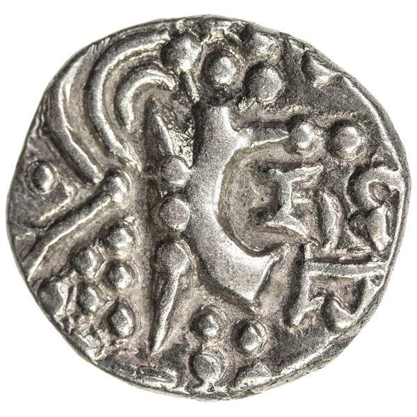 JAMMU & KASHMIR: Namvihakya, 5th century, debased AV stater (7.84g). VF-EF