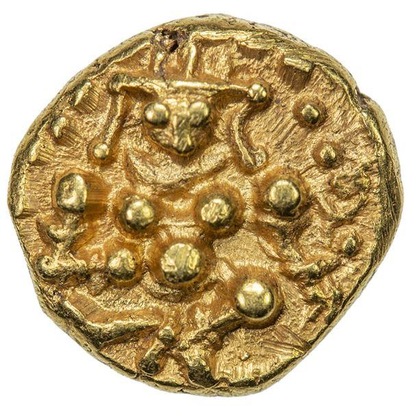 CHITALDURG: Madakeri Nayaka I, 1565-1602, AV 1/2 pagoda (1.66g). AU