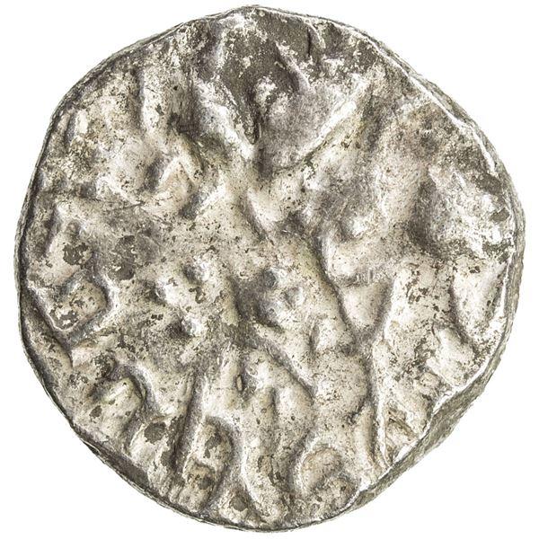 KASHMIR: Harshadeva, 1089-1101, AR drachm (3.06g). VF-EF