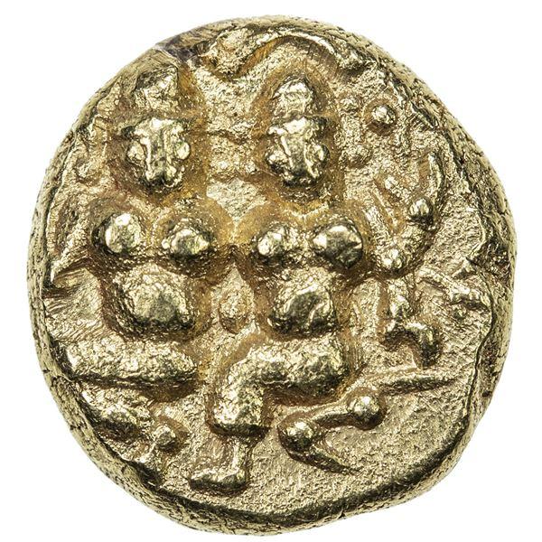 NAYAKAS OF IKKERI: Sadasiva Nayaka, ca. 1520-1570, AV pagoda (3.28g). EF