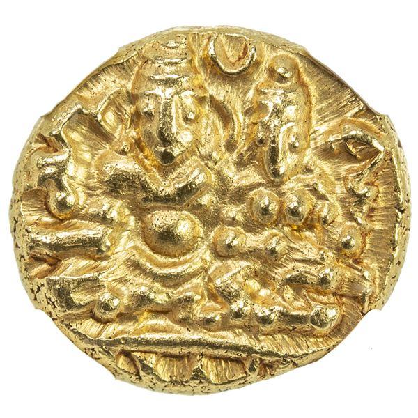 VIJAYANAGAR: Hari Hara II, 1377-1404, AV 1/2 pagoda. NGC MS66