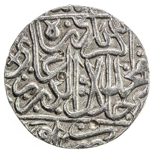 MUGHAL: Akbar I, 1556-1605, AR rupee (11.32g), Awadh, ND. EF