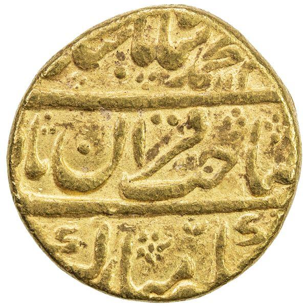 MUGHAL: Muhammad Shah, 1719-1748, AV mohur (10.94g), Shahjahanabad, AH113x year 8. VF
