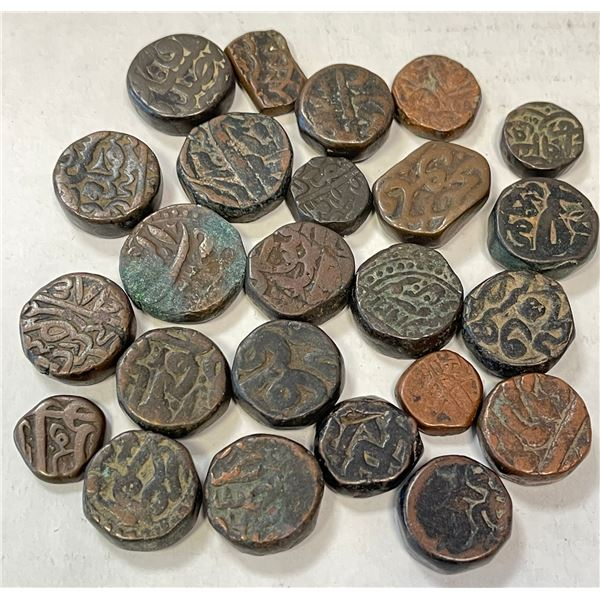 MUGHAL: LOT of 24 coppers