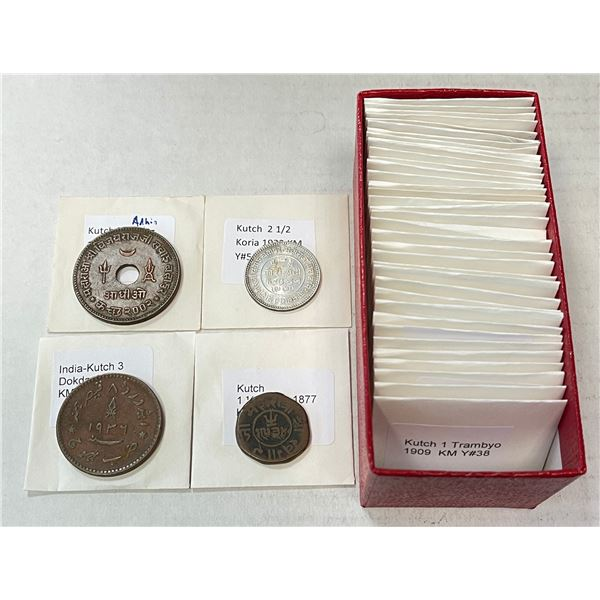 KUTCH: LOT of 40 coins (14 silver)