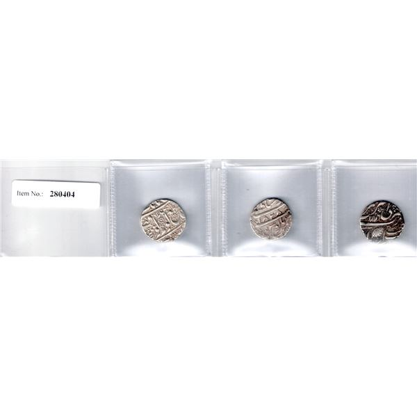 SIKH EMPIRE: LOT of 3 silver rupees