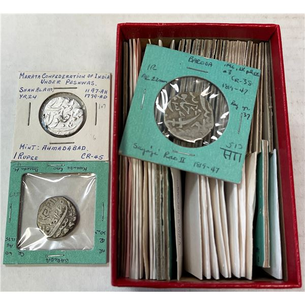 INDIAN STATES: LOT of 49 coins (20 silver)