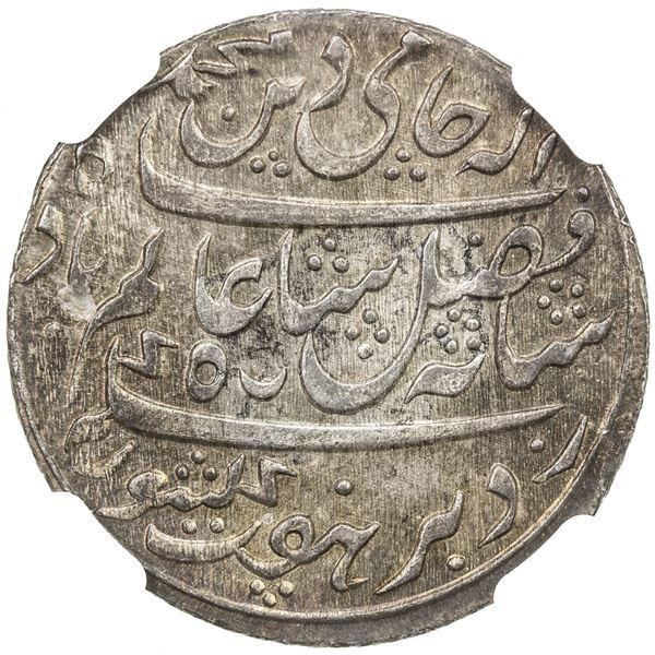 BENGAL PRESIDENCY: AR 1/2 rupee, Murshidabad, year 19. NGC MS65