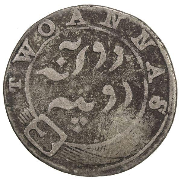 MADRAS PRESIDENCY: AR 2 annas, ND (1808). VG