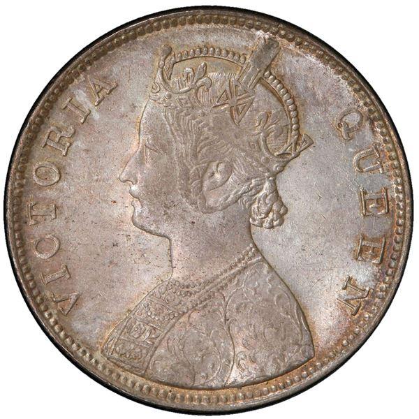 BRITISH INDIA: Victoria, Queen, 1837-1876, AR rupee, 1862(b)