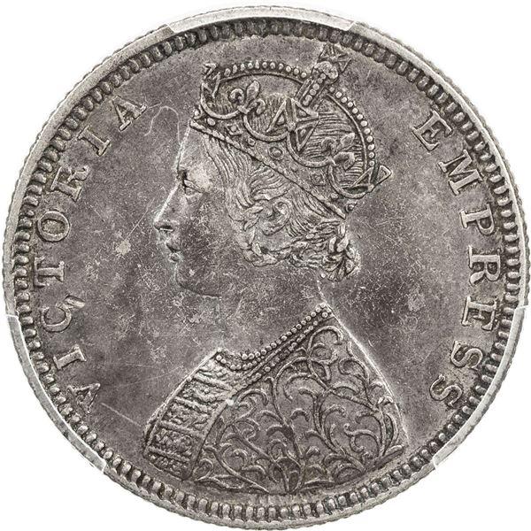 BRITISH INDIA: Victoria, Empress, 1876-1901, AR 1/2 rupee, 1882(b). NGC AU