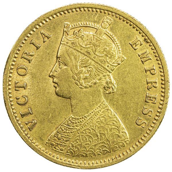 BRITISH INDIA: Victoria, empress, 1876-1901, AV mohur, 1889(c). EF