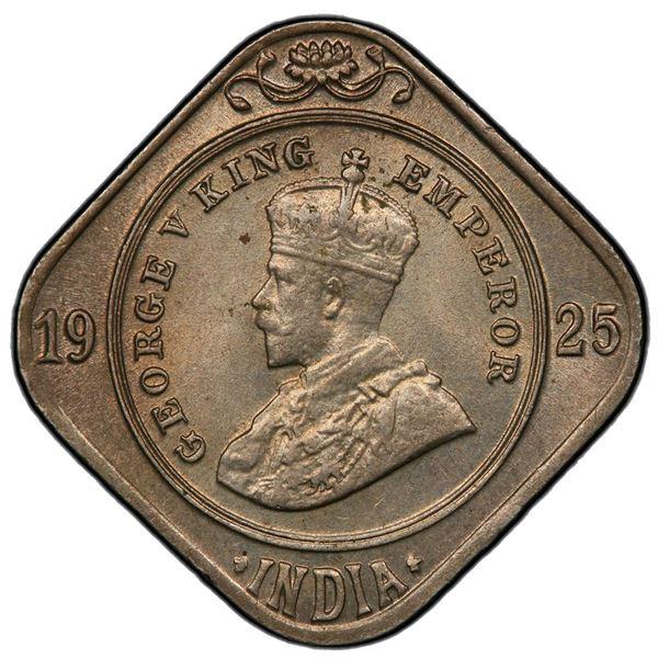 BRITISH INDIA: George V, 1910-1936, 2 annas, 1925(c). PCGS MS65