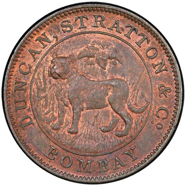 BRITISH INDIA: AE 1/2 rupee proving piece, ND (1905)