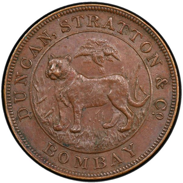 BRITISH INDIA: AE rupee proving piece, ND (1905)
