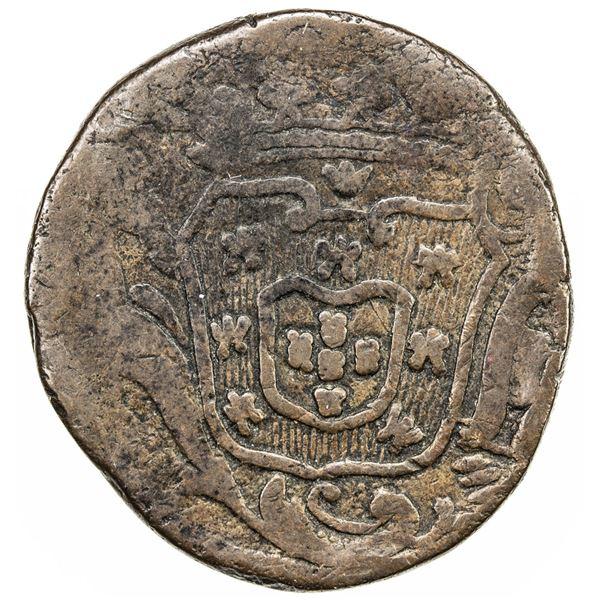 GOA: Jose I, 1750-1777, AE 1/2 tanga (30 reis) (20.57g), 1774. F-VF