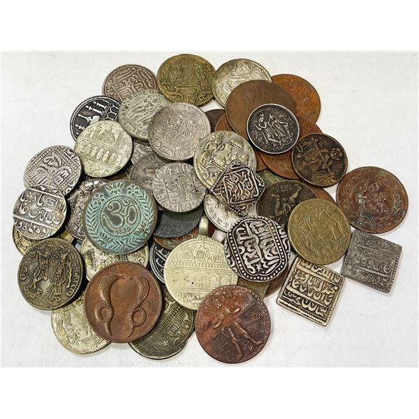 INDIA: LOT of 49 temple tokens