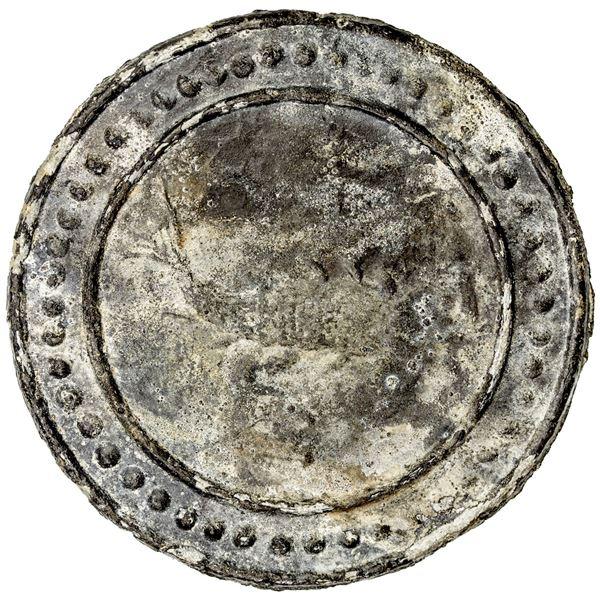 TENASSERIM-PEGU: Anonymous, 17th/18th century, large tin coin, cast (78.40g)