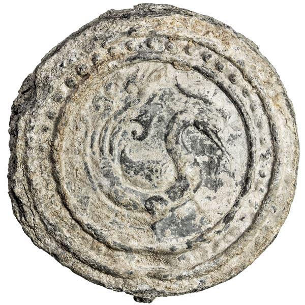 TENASSERIM-PEGU: Anonymous, 17th-18th century, lead weight (450.5g). VF-EF