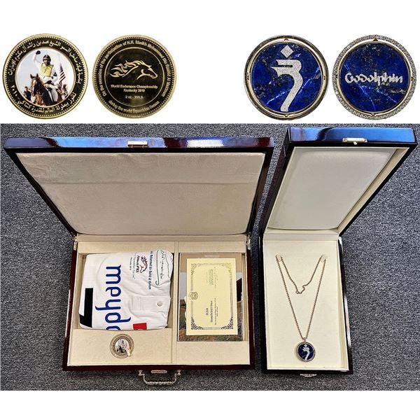 DUBAI: Mohammed bin Rashid al-Maktoum, 2010, Personal Gift Set, 2oz gold + other items