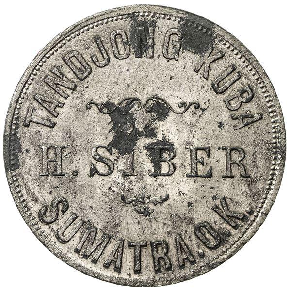 SUMATRA: Tandjong Kuba, ca. 1888-1898, zinc 100 (cents/duits) (5.77g). EF