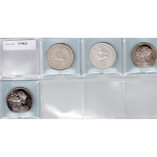 IRAN: LOT of 4 silver coins and medals