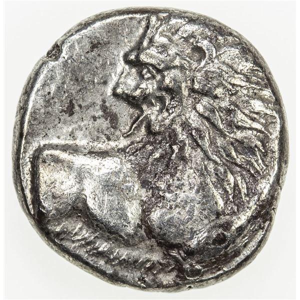 CHERSONESOS: ca/ 400-350 BC, AR hemidrachm (2.39g)