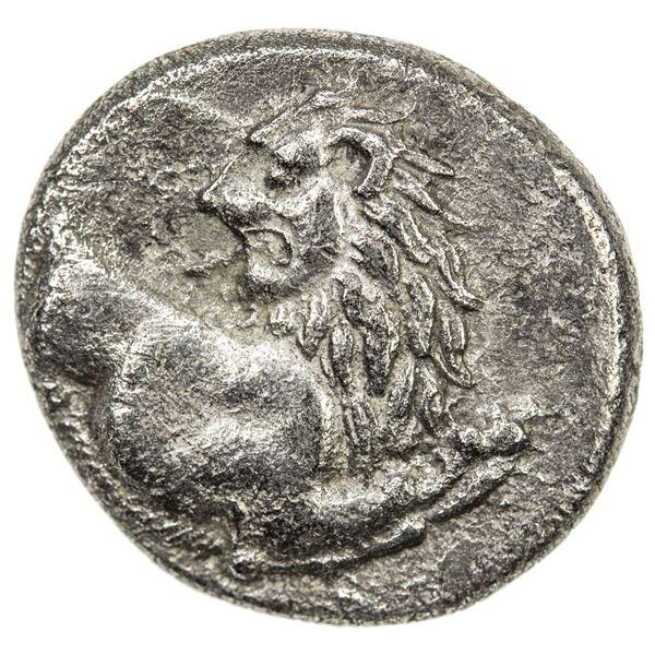 CHERSONESOS: ca/ 400-350 BC, AR hemidrachm (2.27g). VF
