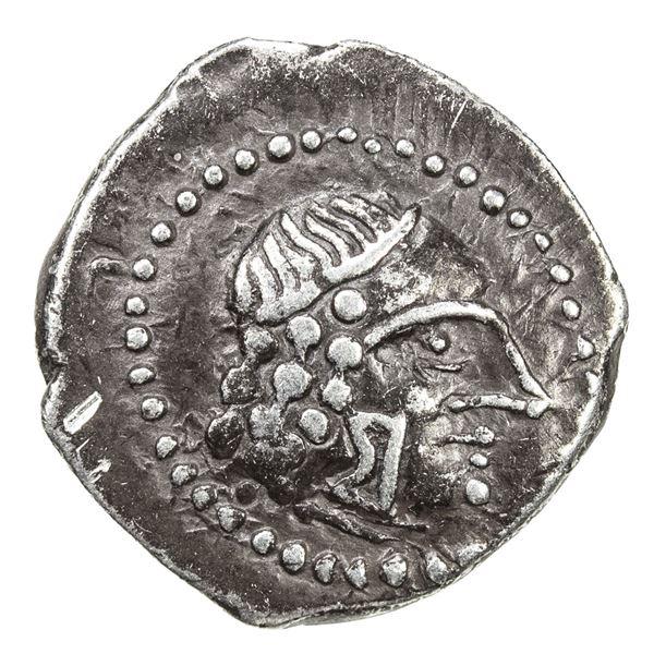 HIMYARITE: Shamnar Yuhan'am, ca. 125-150 AD, AR unit (1.74g), Raydan. VF