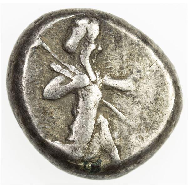 ACHAIMENID EMPIRE: Anonymous, ca. 450-330 BC, AR siglos (5.55g). VF