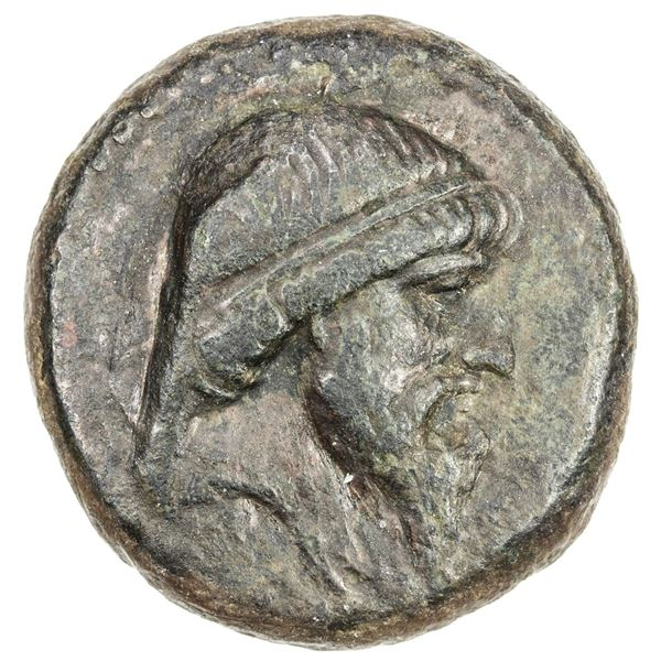 PARTHIAN KINGDOM: Mithradates I, c. 171-138 BC, AE tetrachalkous (6.69g), Ekbatana. VF