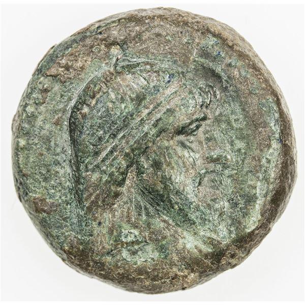 PARTHIAN KINGDOM: Mithradates I, c. 171-138 BC, AE tetrachalkous (8.00g), Ekbatana. F-VF