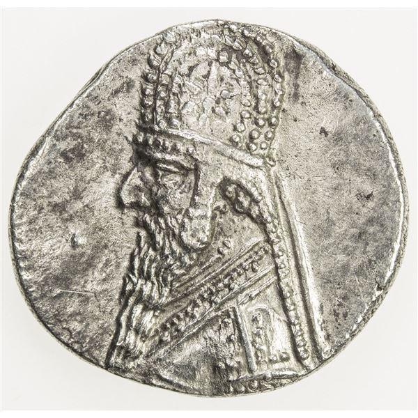 PARTHIAN KINGDOM: Mithradates II, c. 123-88 BC, AR drachm (4.02g). EF