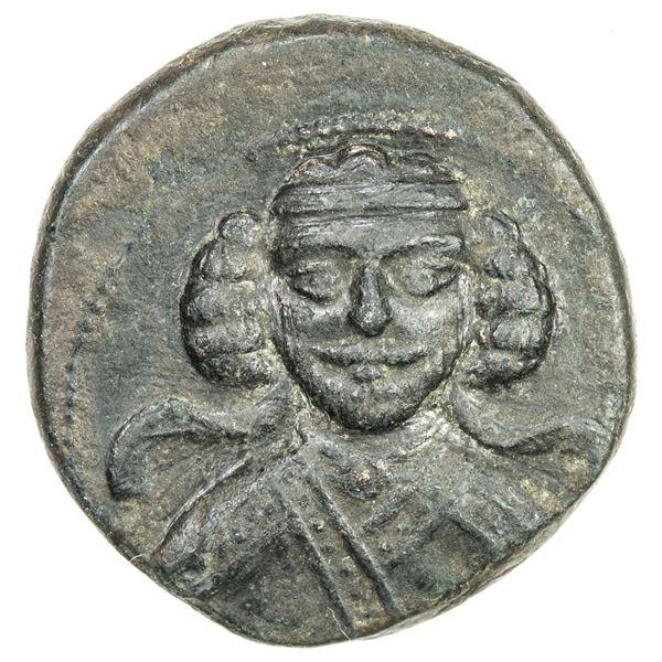PARTHIAN KINGDOM: Phraates III, c. 70-57 BC, AE tetrachalkous (3.86g), Rhagae. VF