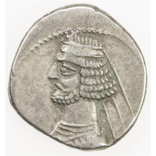 PARTHIAN KINGDOM: Mithradates III, c. 57-54 BC, AR drachm (4.02g), Mithradatkart. VF
