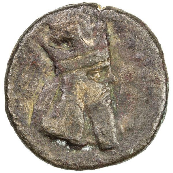 SASANIAN KINGDOM: Ardashir I, 224-241, AE tetradrachm (12.68g). VG-F
