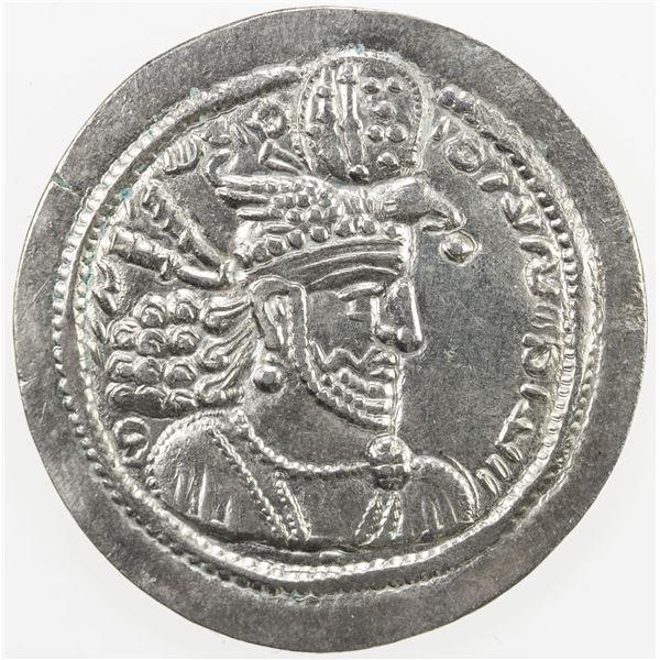 SASANIAN KINGDOM: Hormizd II, 303-309, AR drachm (4.21g). VF-EF