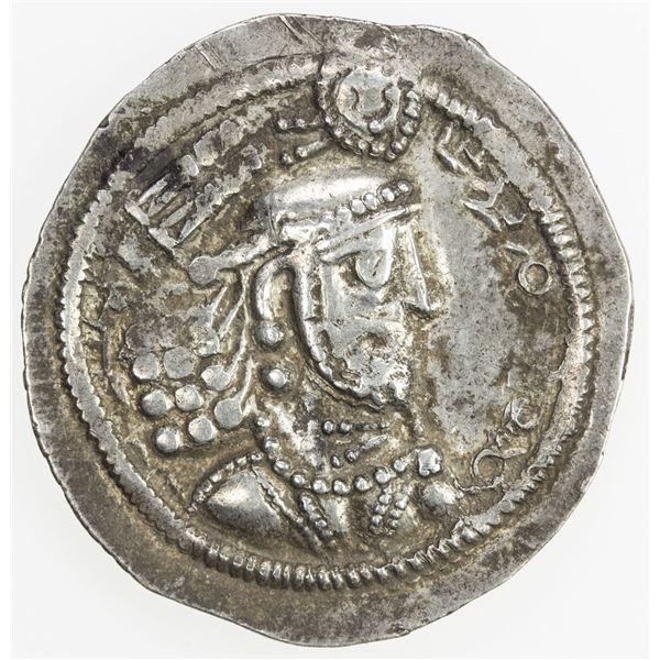 SASANIAN KINGDOM: Ardashir II, 379-383, AR drachm (4.12g). VF