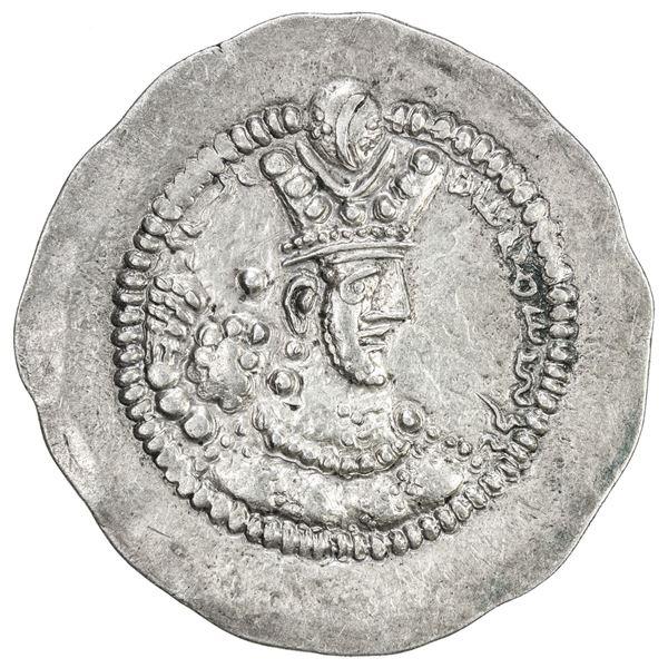 SASANIAN KINGDOM: Varhran V, 420-438, AR drachm (4.18g), LYW (Riv-Ardashir). EF