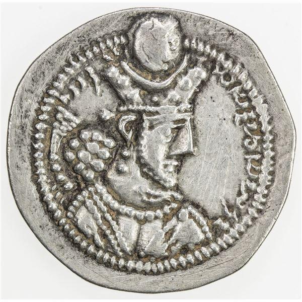 SASANIAN KINGDOM: Varhran V, 420-438, AR drachm (3.30g), LYW (Riv-Ardashir). VF-EF
