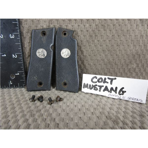 Colt Mustang Grips with Screws in good condition