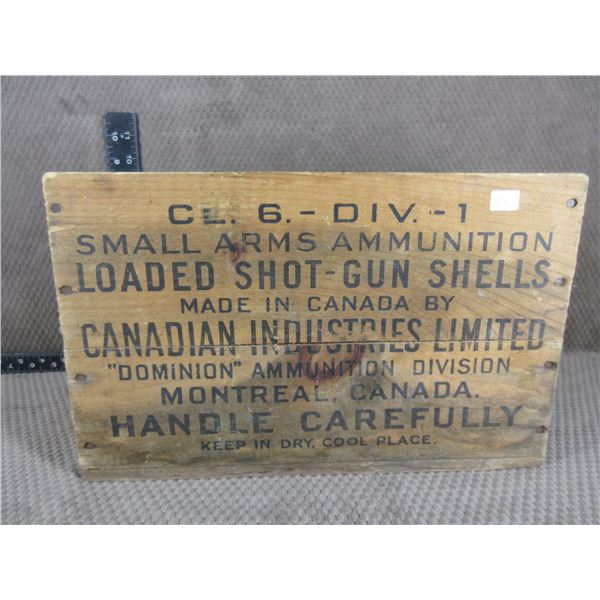 CIL Wood Shotgun Shell Box