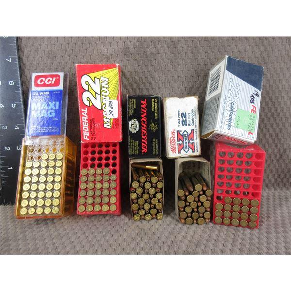 22 Winchester Magnum Rimfire - 5 Part Boxes