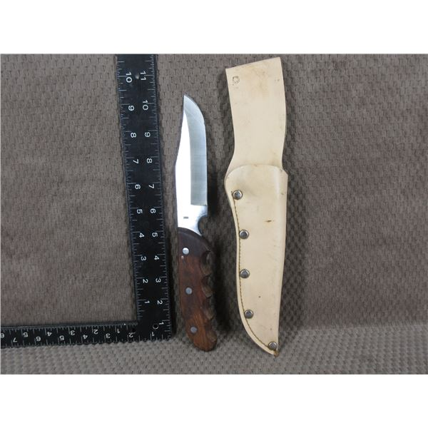 300 Olympia Fixed Blade Knife with Sheath - Used