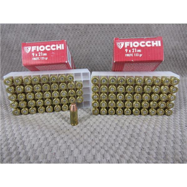 9 X 21, 123 gr, FMJ, Fiocchi - 1 Box of 44, 1 Box of 50