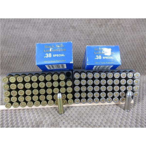 38 Special, 158 gr, SW, Black Hills - 2 Boxes of 50