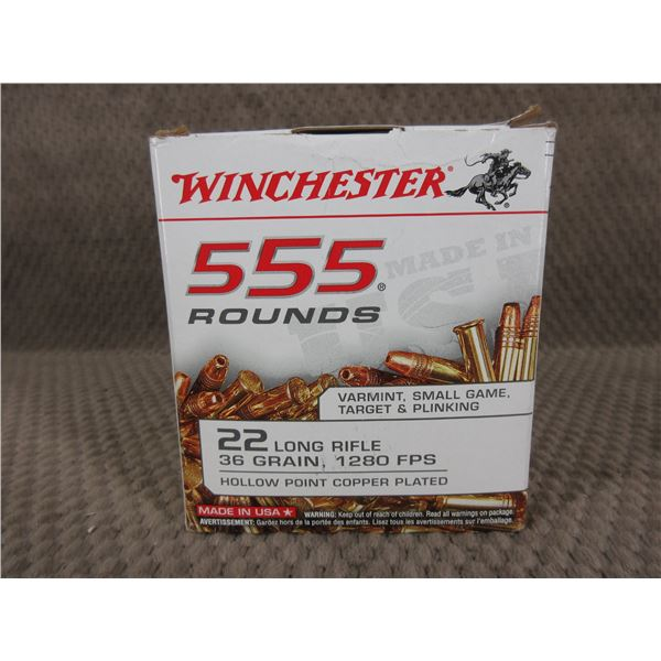 22 Long Rifle, 36 gr, HP Winchester - Box of 555