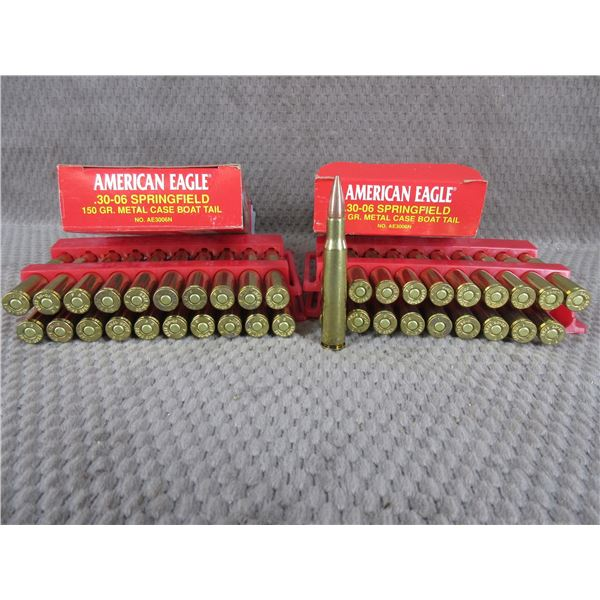 30-06, 150 gr, FMJ/BT, American Eagle - 2 Boxes of 20