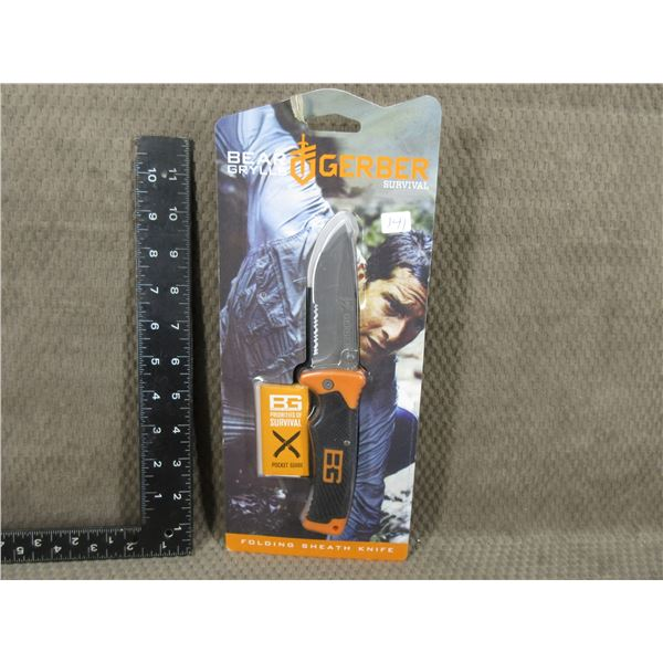 Gerber Survival Folding knive with Sheath - New Old Stock